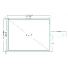 """Резистивный сенсорный экран 12,1"""" ST-121001"""