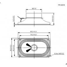 Динамик: FR-0016 4ohm 3W