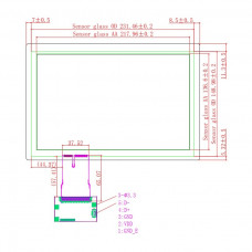 "Ёмкостной сенсорный экран 10,1"" EG10.1-A-1610V1 с USB"