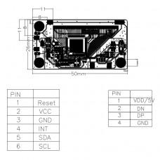 Контроллер ёмкостного сенсорного экрана USB ICI2511C2P1