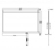 """Резистивный сенсорный экран 10,1"""" ST-101004"""