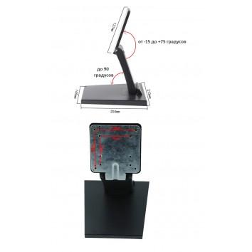 Подставка для мониторов 12-24 VESA 75-100 черная DZ-11