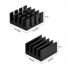 Комлект черных алюминиевых радиаторов для Raspberry Pi